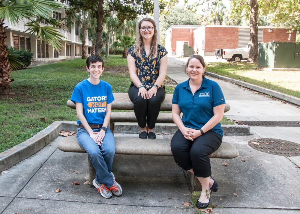 <div>Elaine Giles (left), assistant director for UF's Brown Center for Leadership and Service, Emily Carroll (middle), former UF student, and Jennifer Jones (right), UF assistant professor, made up the volunteering research team.</div>