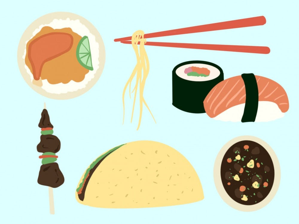 Graphic of cultural foods