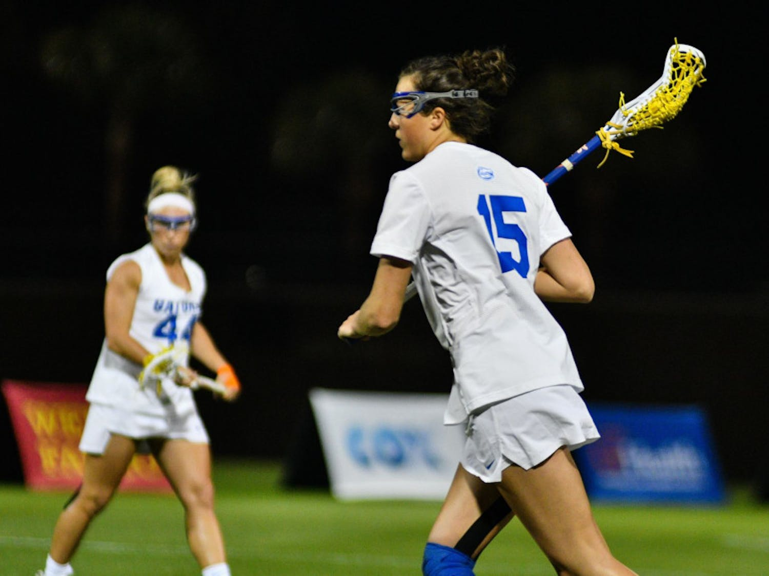 UF attacker Grace Haus scored four goals in Florida's 15-8 win over Temple on Saturday.