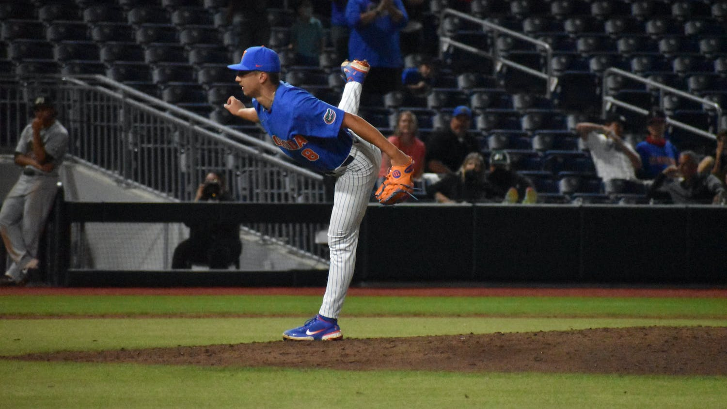 Florida's Brandon Sproat pitches against Jacksonville on March 13. Sproat started on the mound for Florida Saturday, but the Gators saw their SEC Tournament run come to an end with a 4-0 semifinal loss to Tennessee.