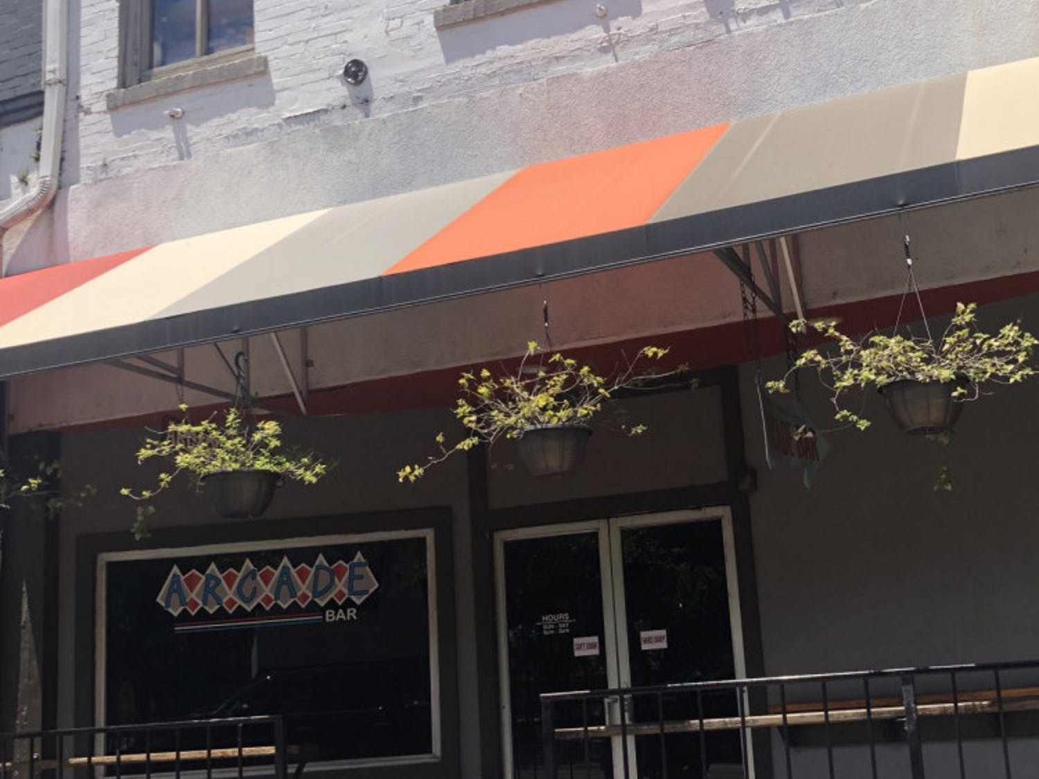 This eclectic bar is located along University Ave. across from the Top.