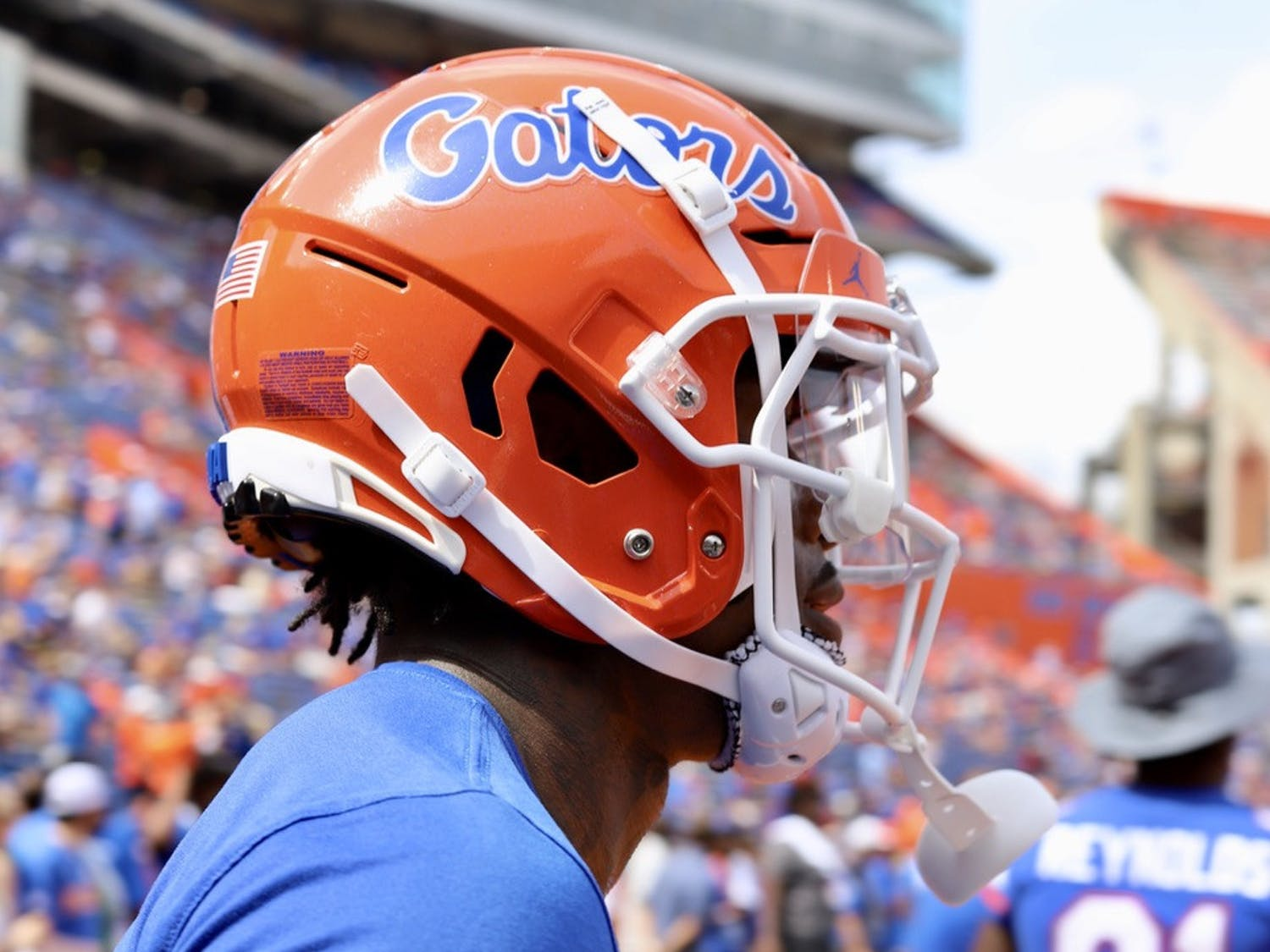 Florida wide receiver Jacob Copeland, pictured during warmups before the Gators' Sept. 18 game against Alabama.
