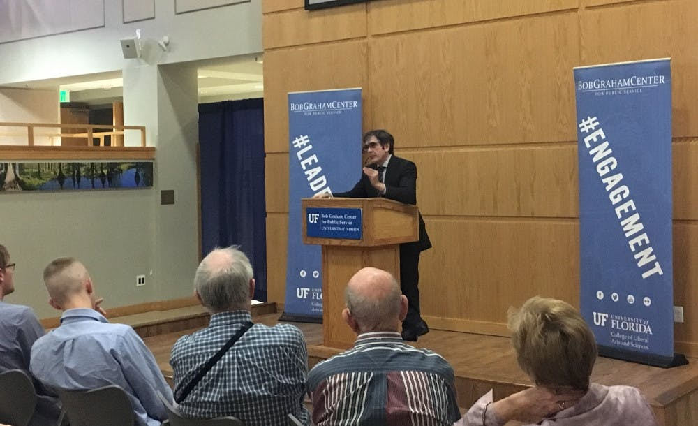 <p><span>David Filipov spoke at the Bob Graham Center at UF on Tuesday. He focused on topics such as Russian President Vladimir Putin, Russia and its relations with the United States.</span></p>