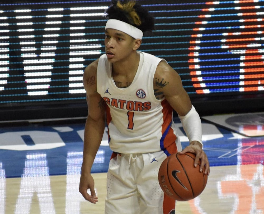 <p>Sophomore guard Tre Mann touched on Noah Locke's NCAA Tournament experience Wednesday. Mann has averaged 26 points in the last two games</p>