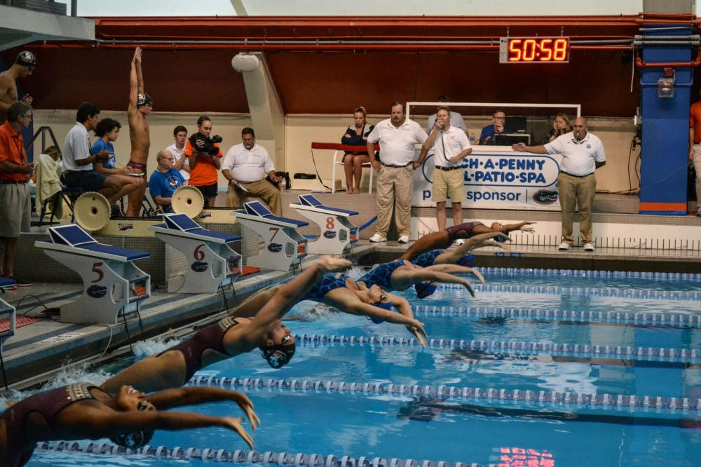 Backstroke race start