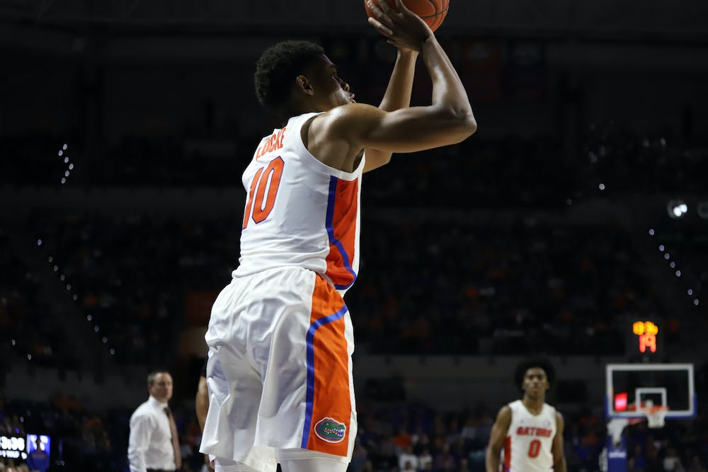 <p>Junior Noah Locke scored 11 points in a losing effort Tuesday.</p>