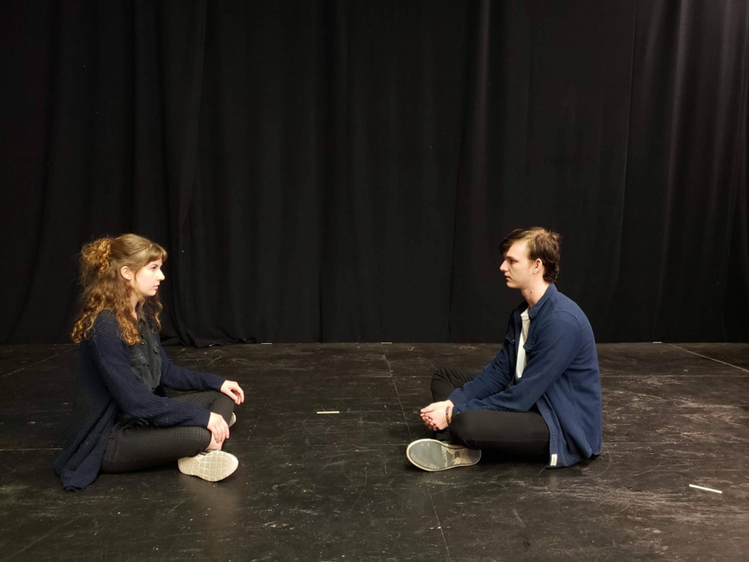 Aaron Kienstra, a 19-year-old UF acting sophomore, and Kara Gordon, a 19-year-old UF theatre freshman, portray the schoolhouse shooter and his wife.