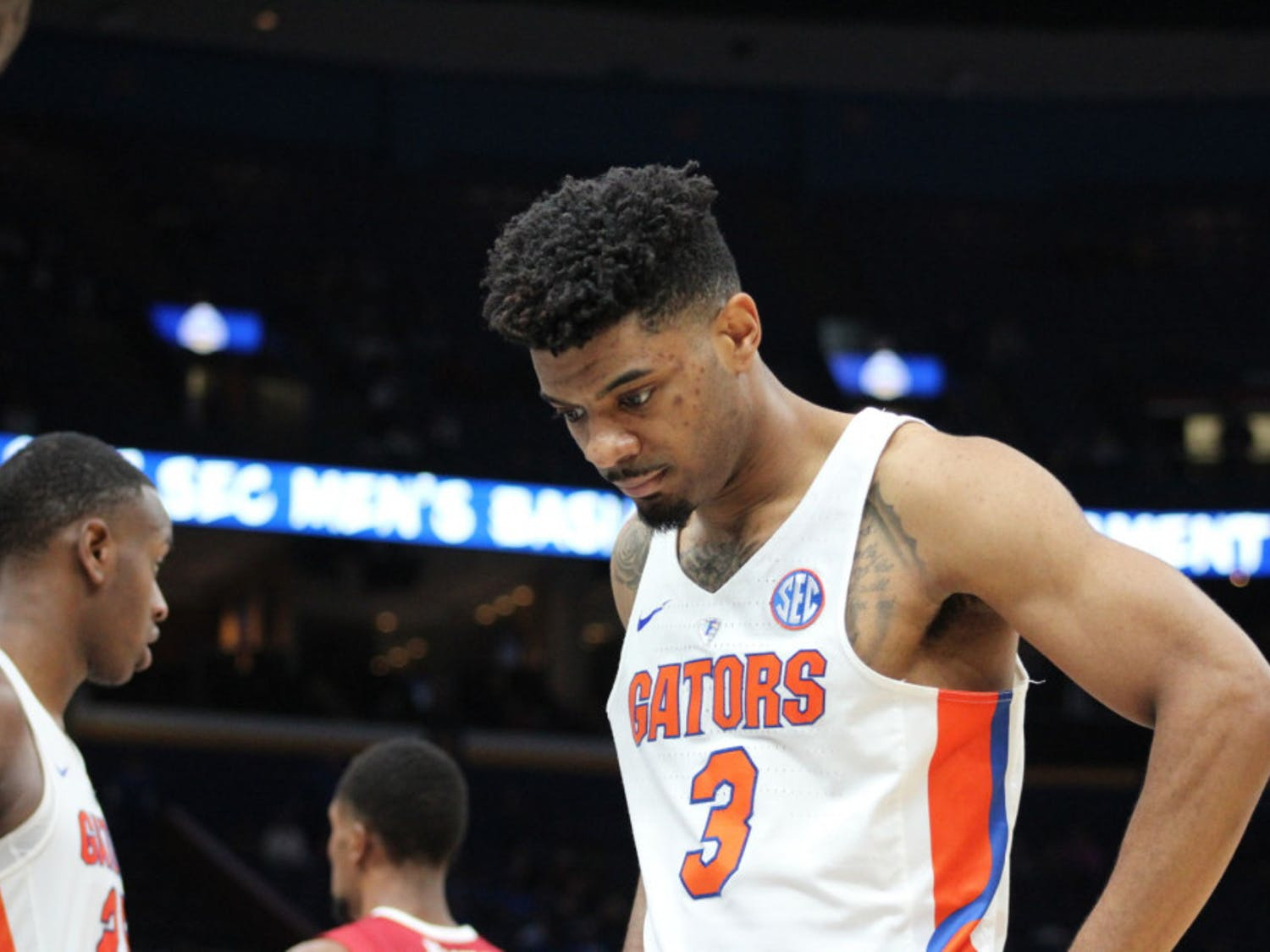 Guard Jalen Hudson led the Gators with 23 points off of 50 percent shooting in Florida's Round of 32 loss to Texas Tech on Saturday