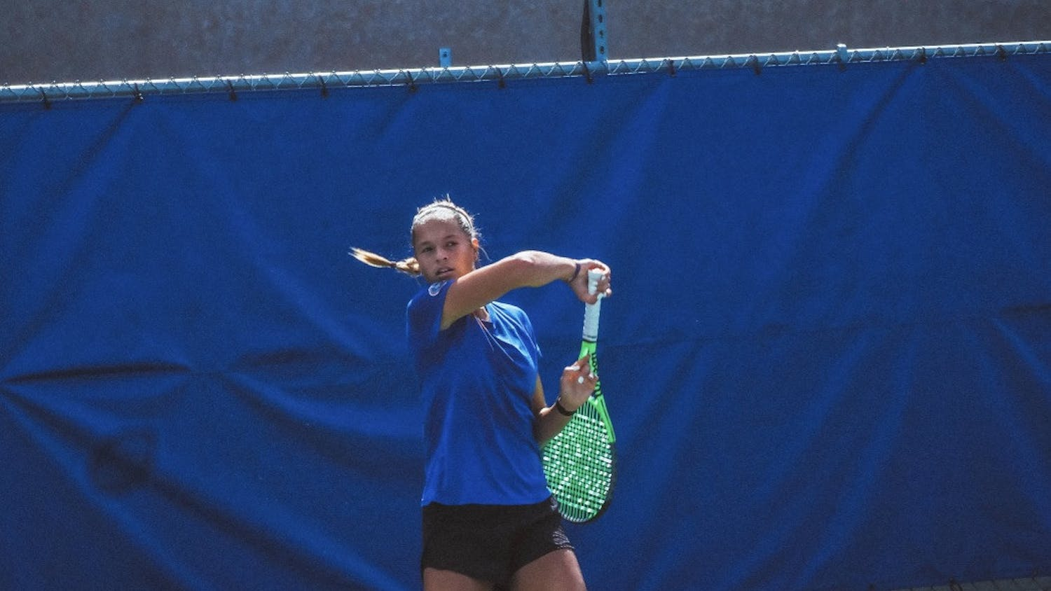 Florida junior Emma Shelton practices at Alfred A. Ring Tennis Complex in Gainesville, Florida.