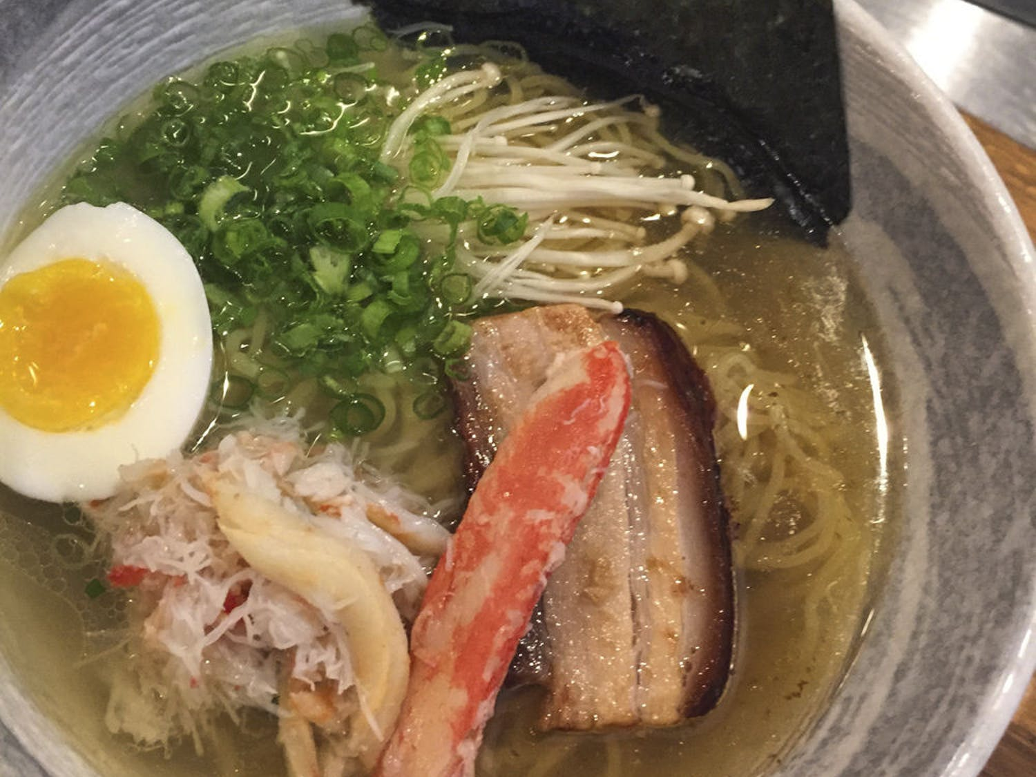 A bowl from Crane Ramen holds the restaurant's fare. The restaurant is one of four invited to attend the New York Slurpfest on Oct. 22.