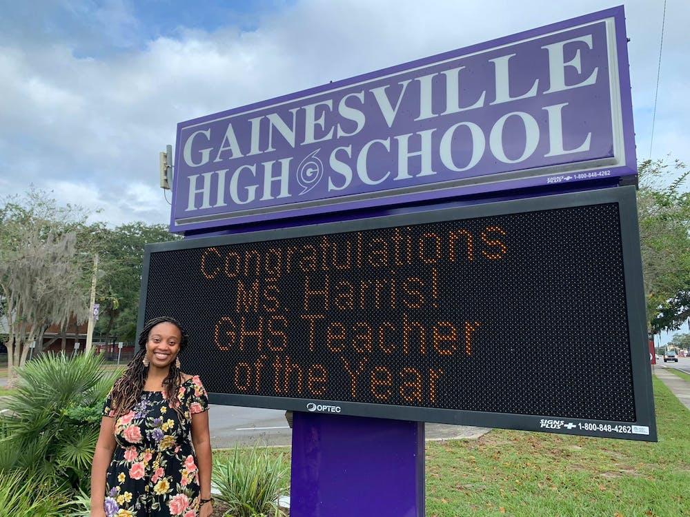 <p>Photo of ACPS Teacher of the Year Nicole Harris [Courtesy of Jackie Johnson]</p>