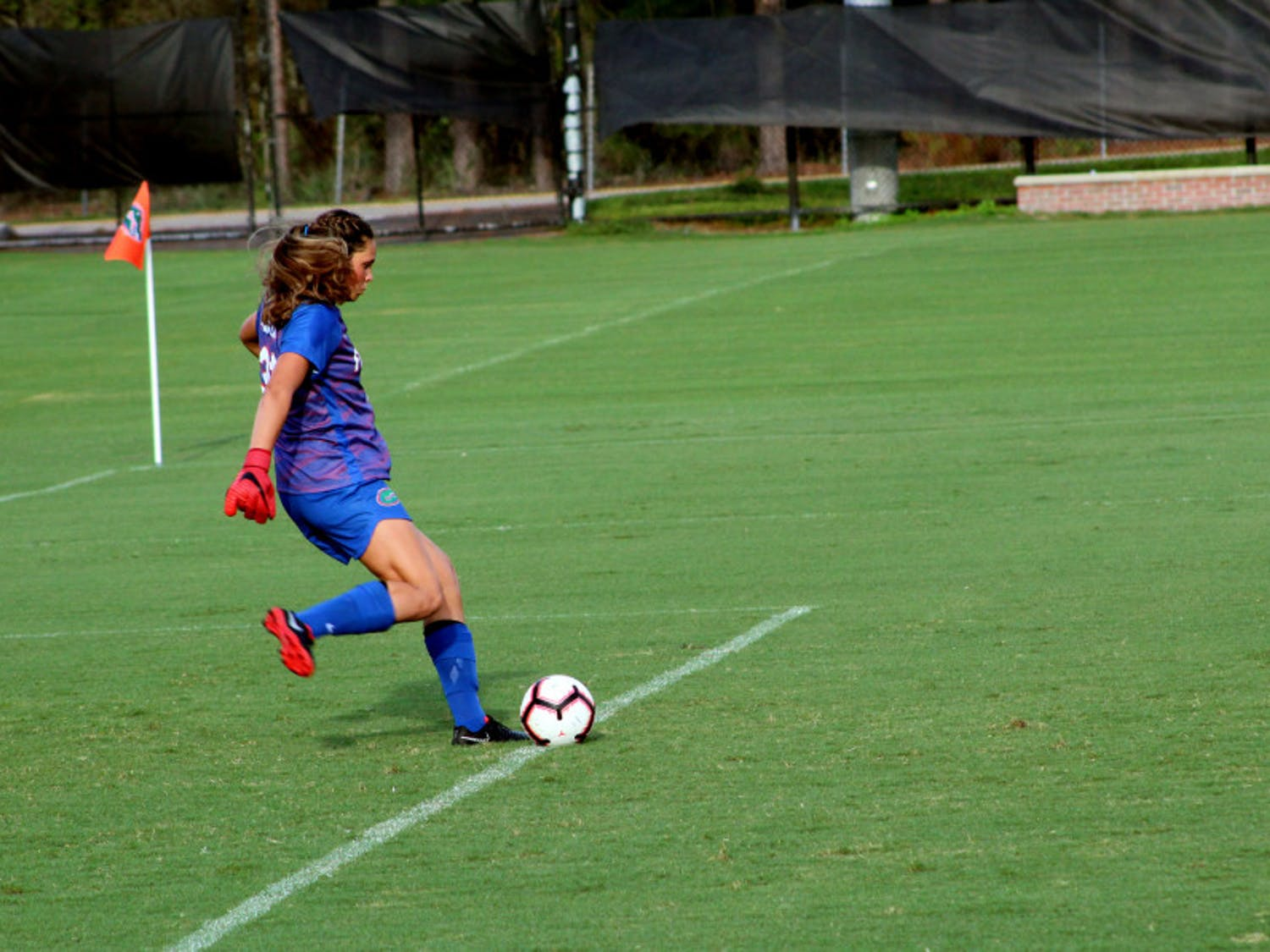 Florida goalkeeper Kaylan Marckese saved three shots in the first half of UF's 0-0 tie against Alabama on Sunday.