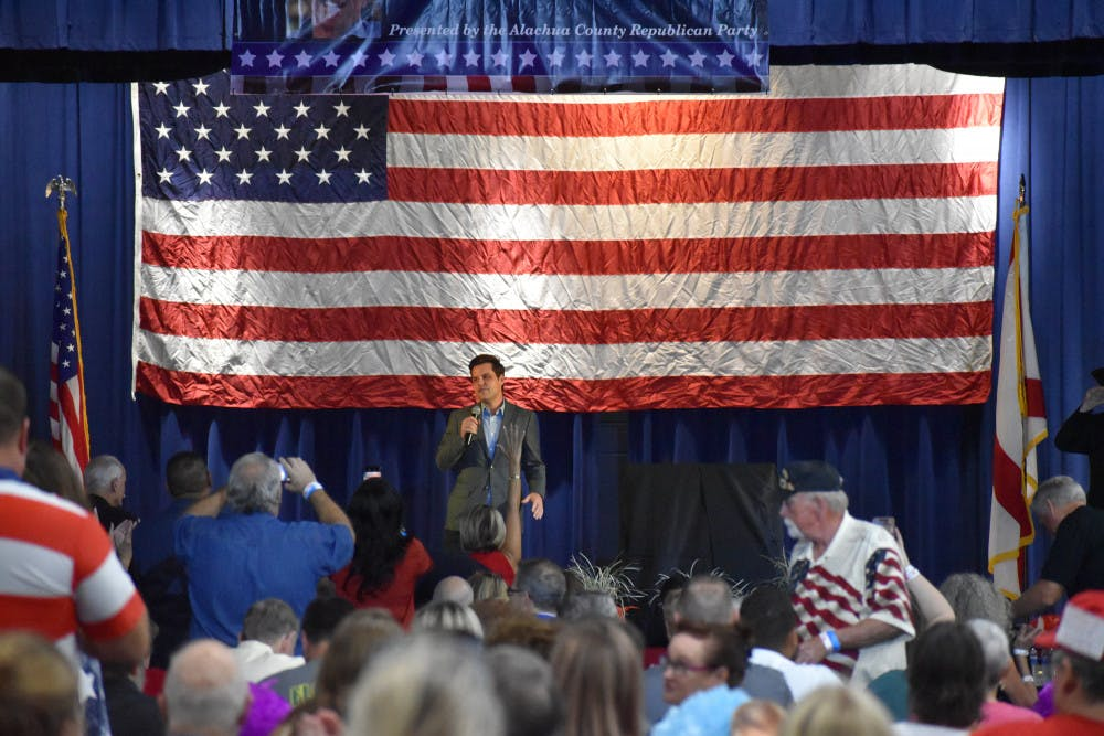 <p>U.S. District 1 Congressman Matt Gaetz at the18th annual Ronald Reagan Black Tie and Blue Jeans BBQ Thursday evening.</p>