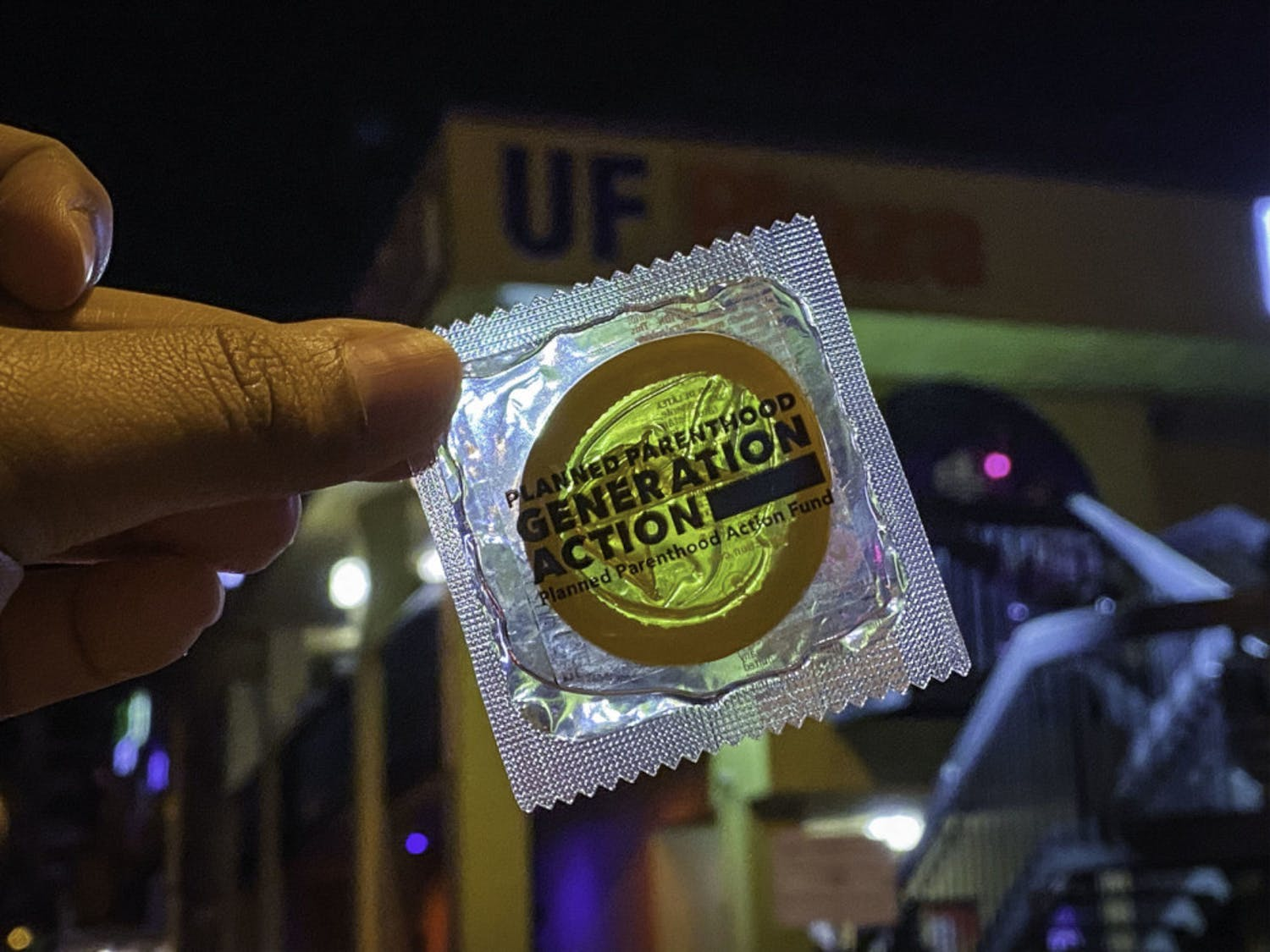 On Saturday night, Planned Parenthood Generation Action and the Women's Student Association handed out condoms and other forms of protection to those in lines for bars at Midtown.