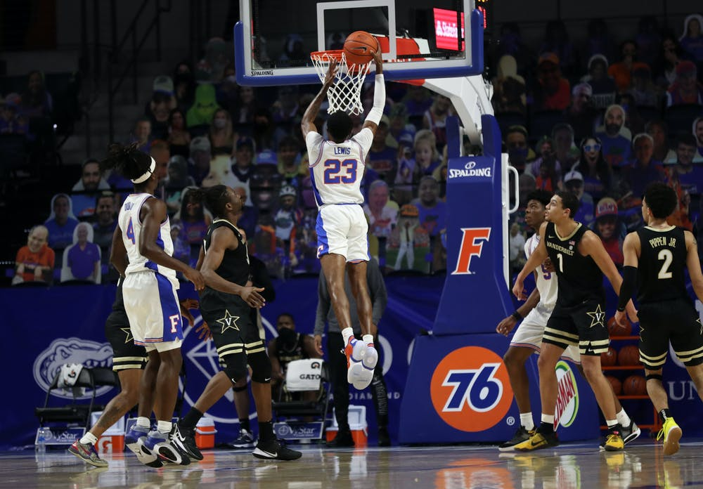 Lewis had missed the past four games due to health and safety protocols but made his mark against Vanderbilt, scoring 10 first-half points. Photo Courtesy of the SEC Media Portal.