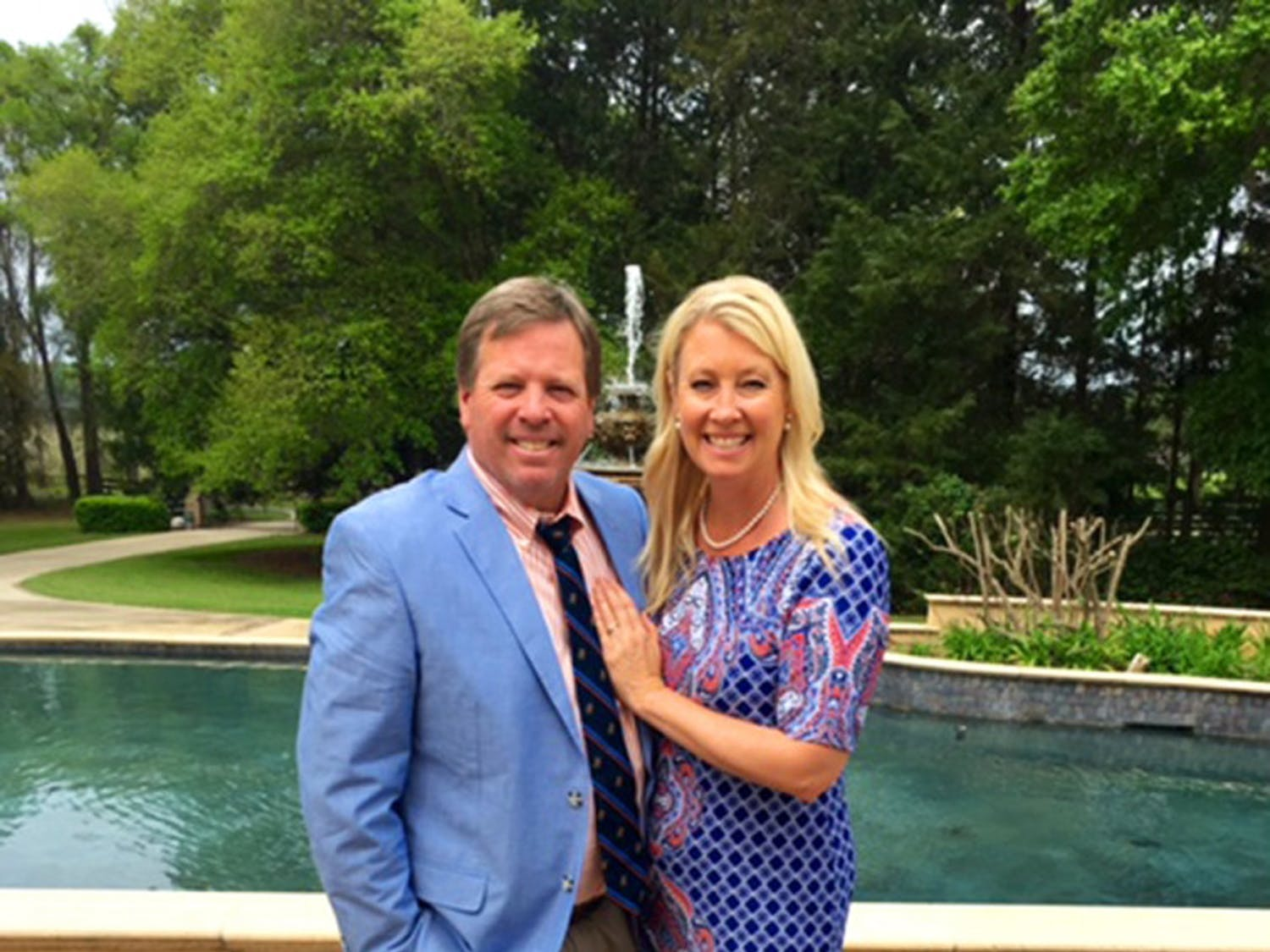 Coach Jim McElwain and Karen McElwain before attending Easter Sunday service last month. The McElwains have been in Gainesville for a year now, with a 10-4 regular season record in their first season with the Gators.