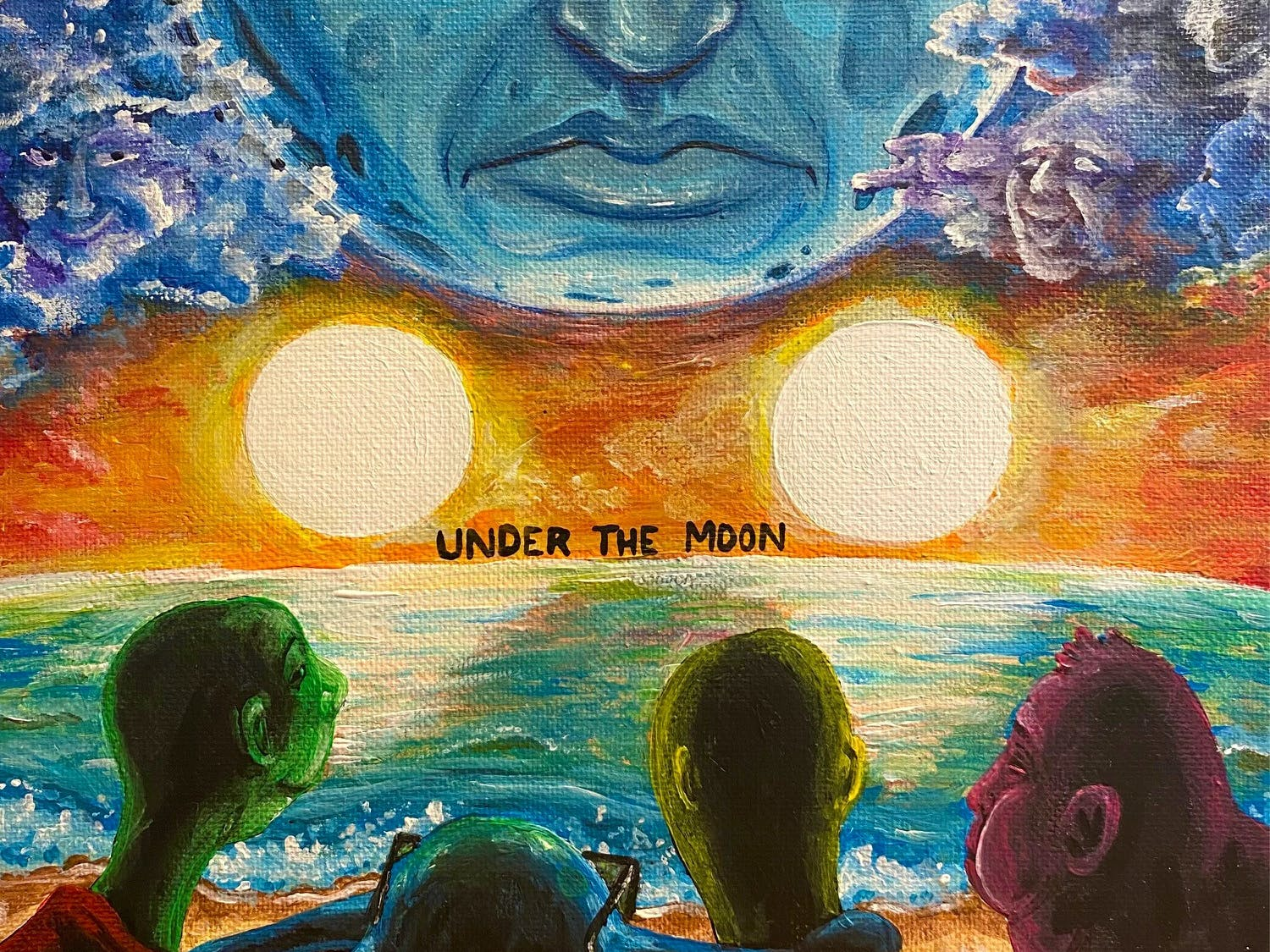 """Under The Moon,"" Twin Suns' debut single, is now available on all streaming platforms. [Courtesy to the Alligator]"