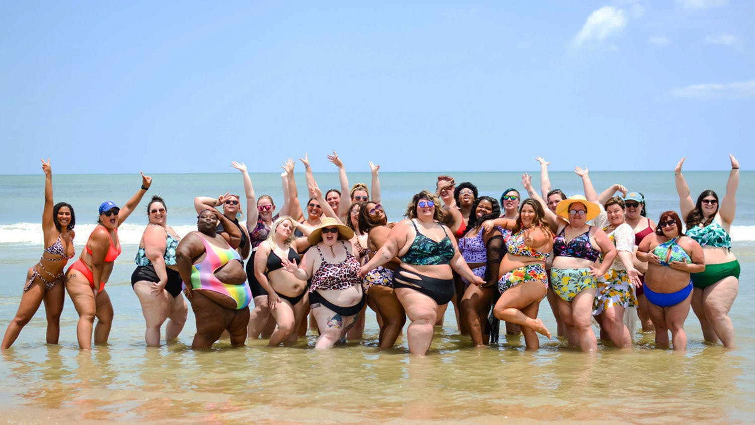 Curvy Confidence members at the Summer Swim Soiree on Saturday, June 12, 2021, at Mickler Landing, Florida. (Photo by Jonathan Vickers | Courtesy to The Alligator)
