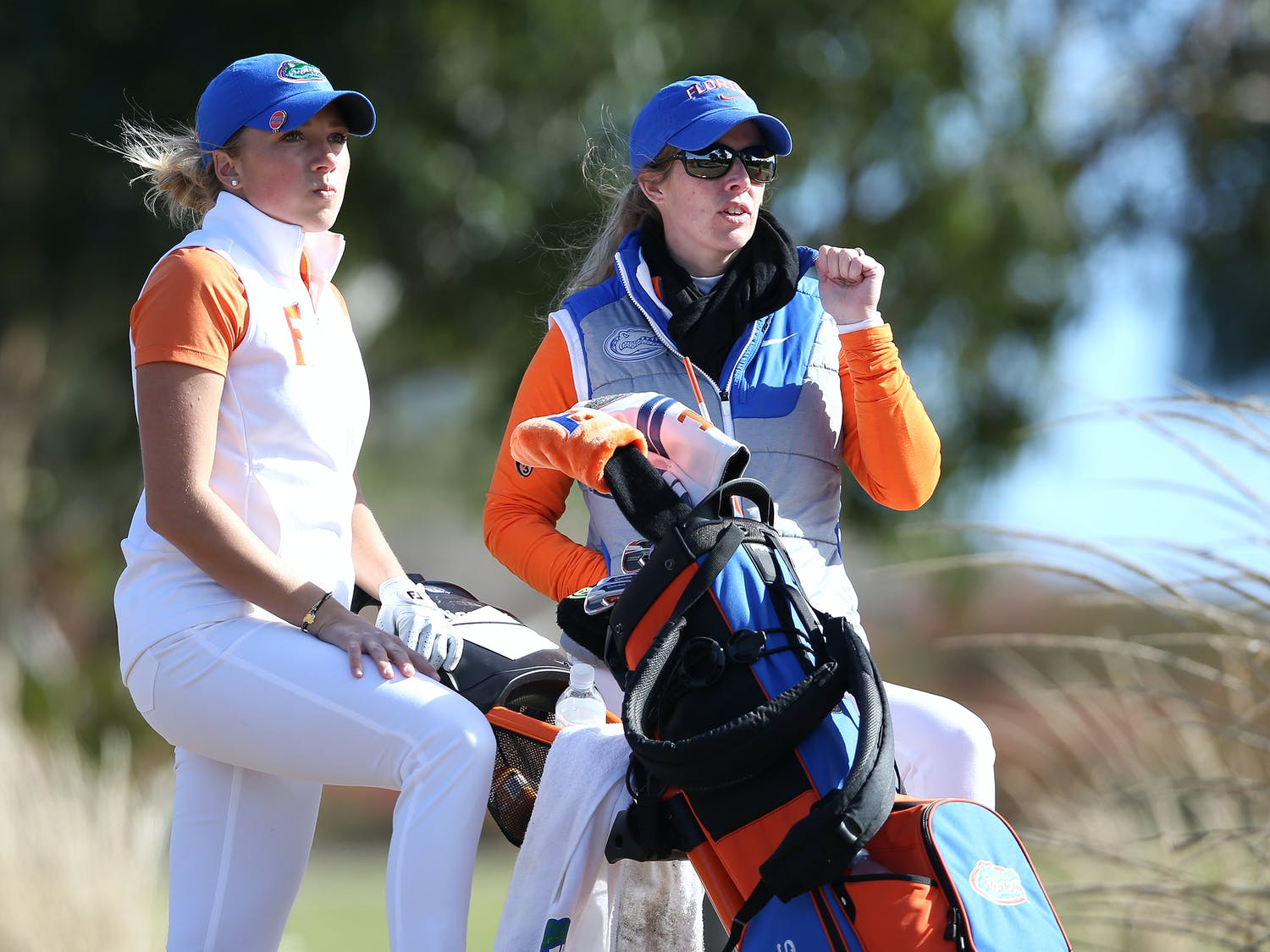 Coach Emily Glaser (right) and sophomore Sierra Brooks (left) will round out the regular season starting today in Athens, Georgia.
