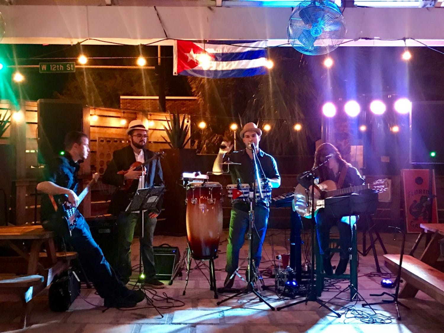 Latino's Sound Machine, a local latin music band, plays at Felipe's Taqueria, located at 1209 W. University Ave., during a fundraising event for Cuban hurricane victims. The event raised $540 for construction supplies.