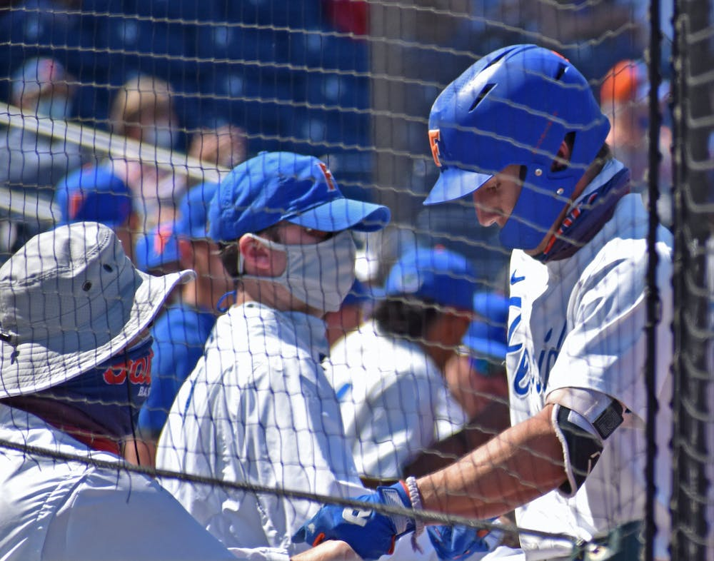 Florida's Jacob Young in a game against Jacksonville on March 14. Young and the Gators welcome Miami, South Alabama and South Florida to Florida Ballpark for regional competition beginning Friday.