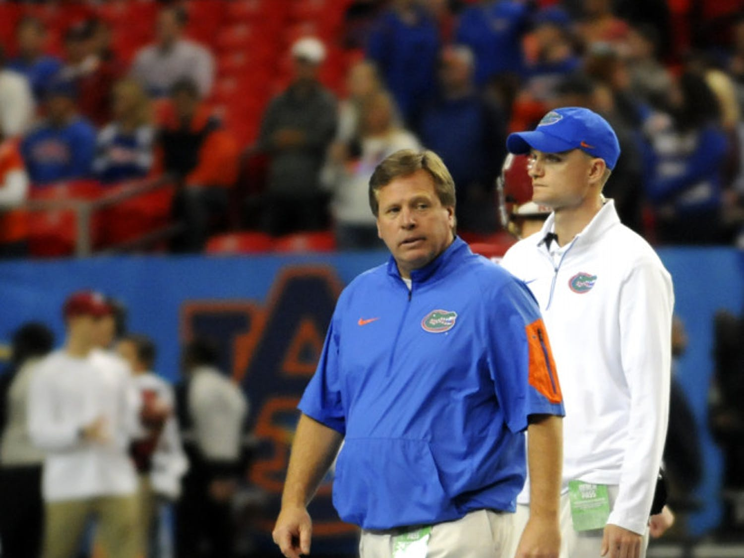 Jim McElwain looks on during Florida's 29-15 loss to Alabama in the 2015 SEC Championship Game.