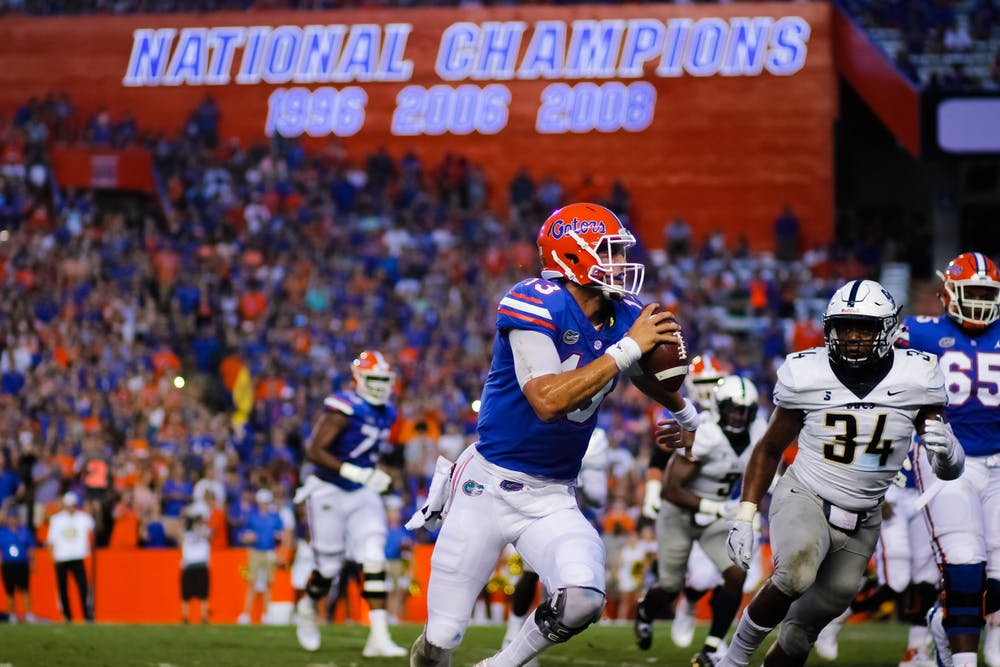 <p>Quarterback Feleipe Franks went 16-for-24 for 219 yards and five touchdowns in the first half against Charleston Southern before being subbed out for the second half.</p>