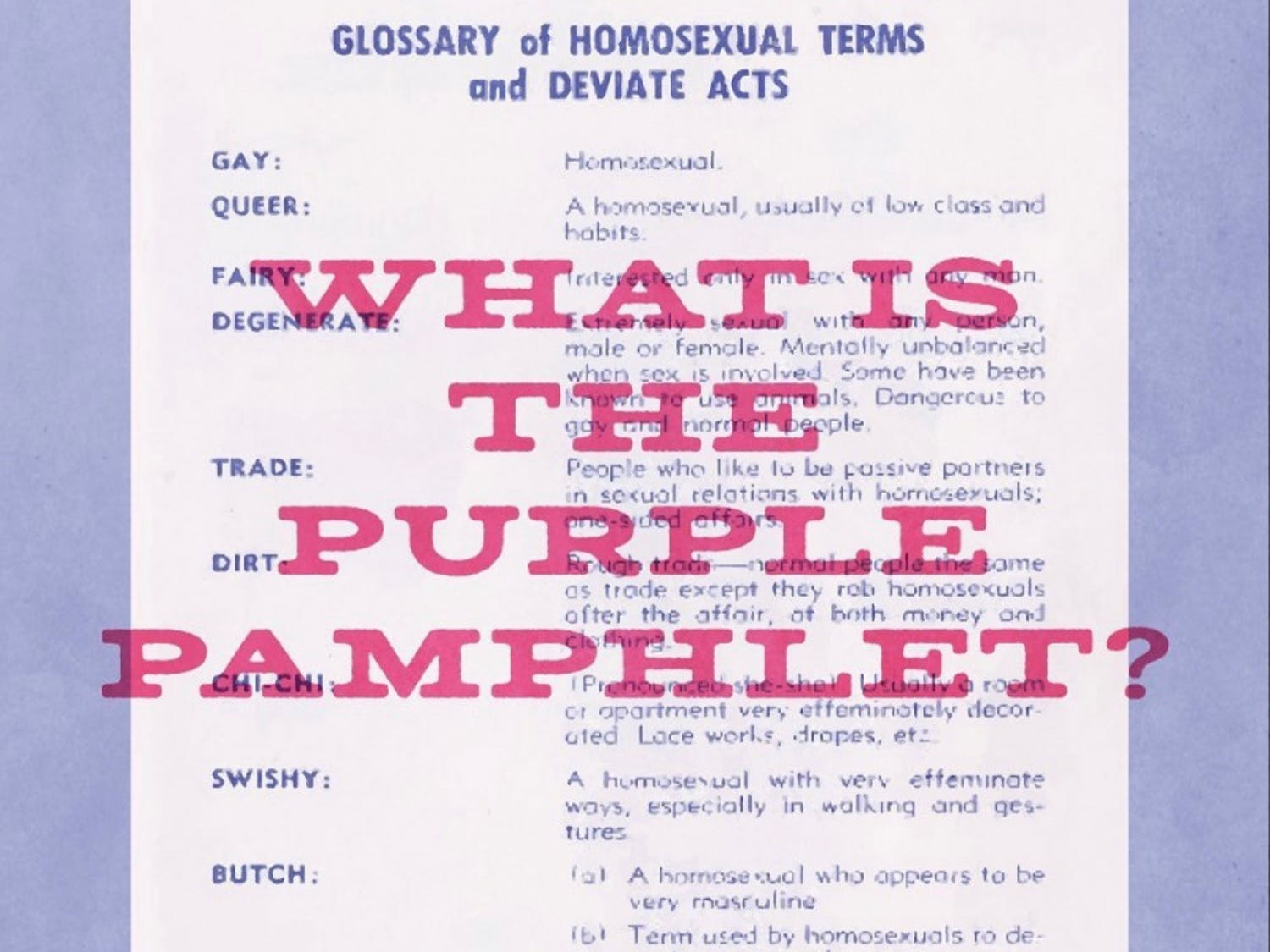 Purple Pamflet is an Instagram account used to spread awareness on UF's past.