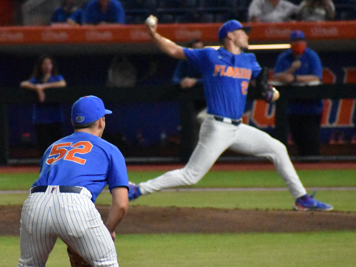 Pitching struggles crafted the narrative for the entire weekend, and Sunday wasn't different. Photo from UF-Jacksonville March 13.
