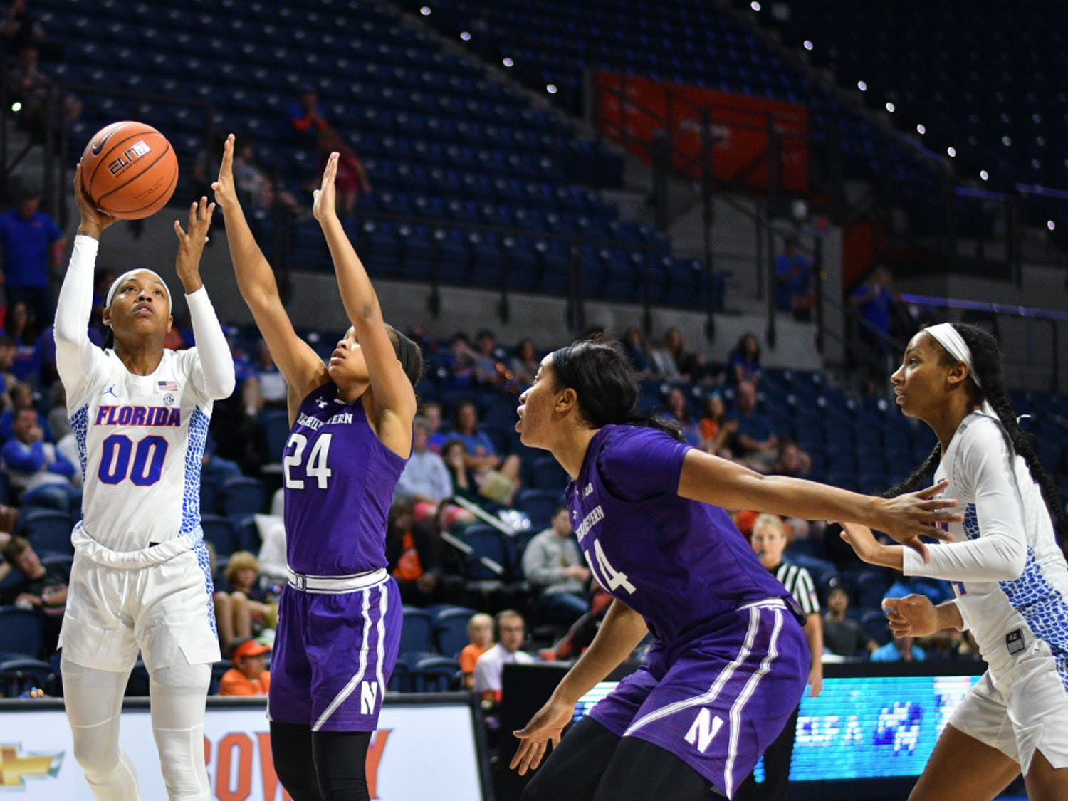 Florida guard Delicia Washington's game-winning layup helped the Gators beat Missouri 58-56, their first win against the Tigers in program history.