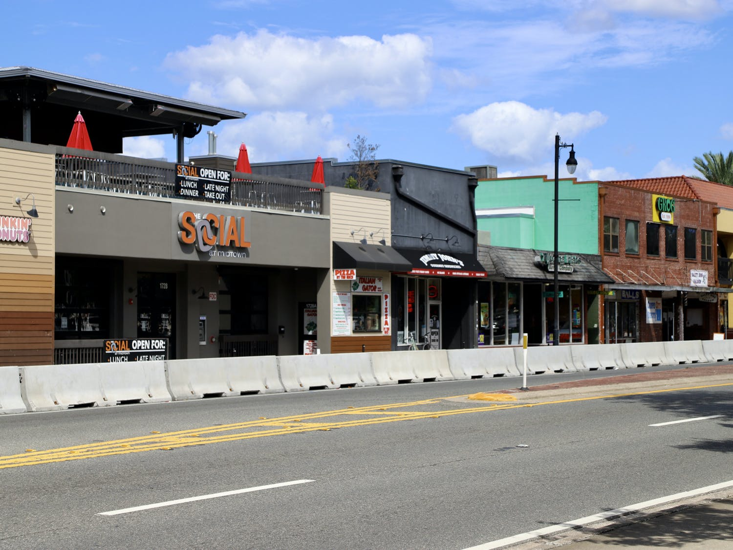 The Social at Midtown. The property, which houses the bar and restaurant as well as Dunkin' Donuts and Italian Gator, is up for sale.
