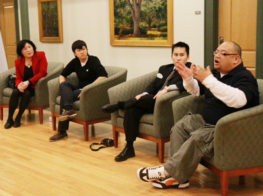 <p>Asian Kaleidoscope Month and the Pride Student Union joined forces to present LGBT Stories: Queer in Asian America, a panel discussion featuring Pauline Park, Andy Sun, Natalie Nguyen and Ernie Selorio Jr. on Wednesday evening in Ustler Hall.</p>