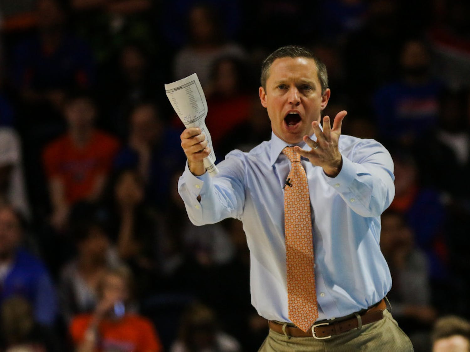 UF coach Mike White (pictured) and the Gators men's basketball team fell to Kentucky 65-54 on Saturday.