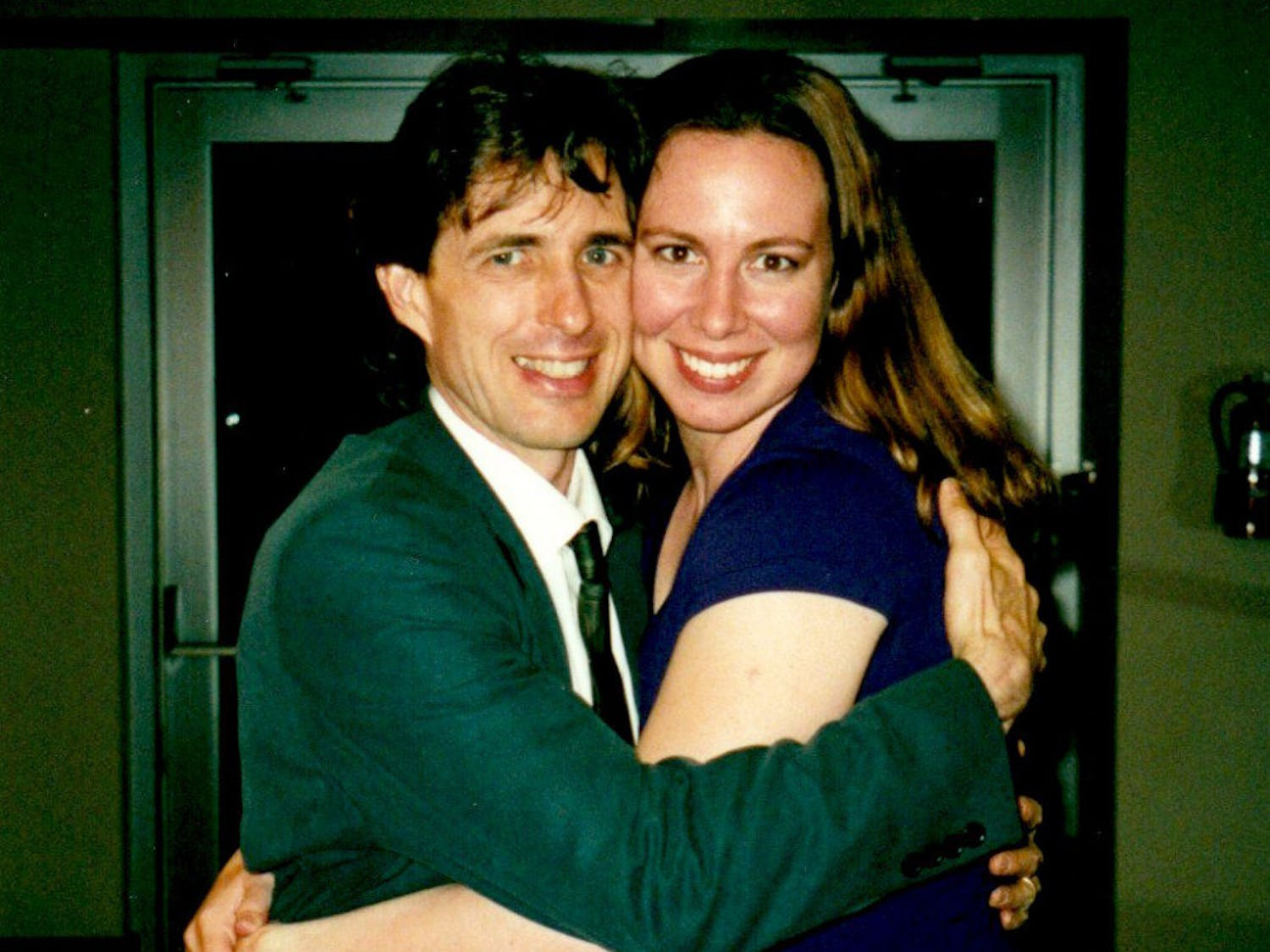 UF dance professor Richard Rose and his former dance student, Lynn Forney, pose for a photo in the 2000-2001 school year, when she was still a UF student. The 40-year-old said one of her proudest moments was when Rose hugged her after she won the most outstanding senior award in the UF School of Theatre and Dance.