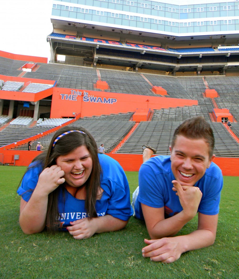 <p>Alison Schwartz and her best friend, Jared Misner, at the University of Florida. Alison was a UF and Alligator alumna.</p>