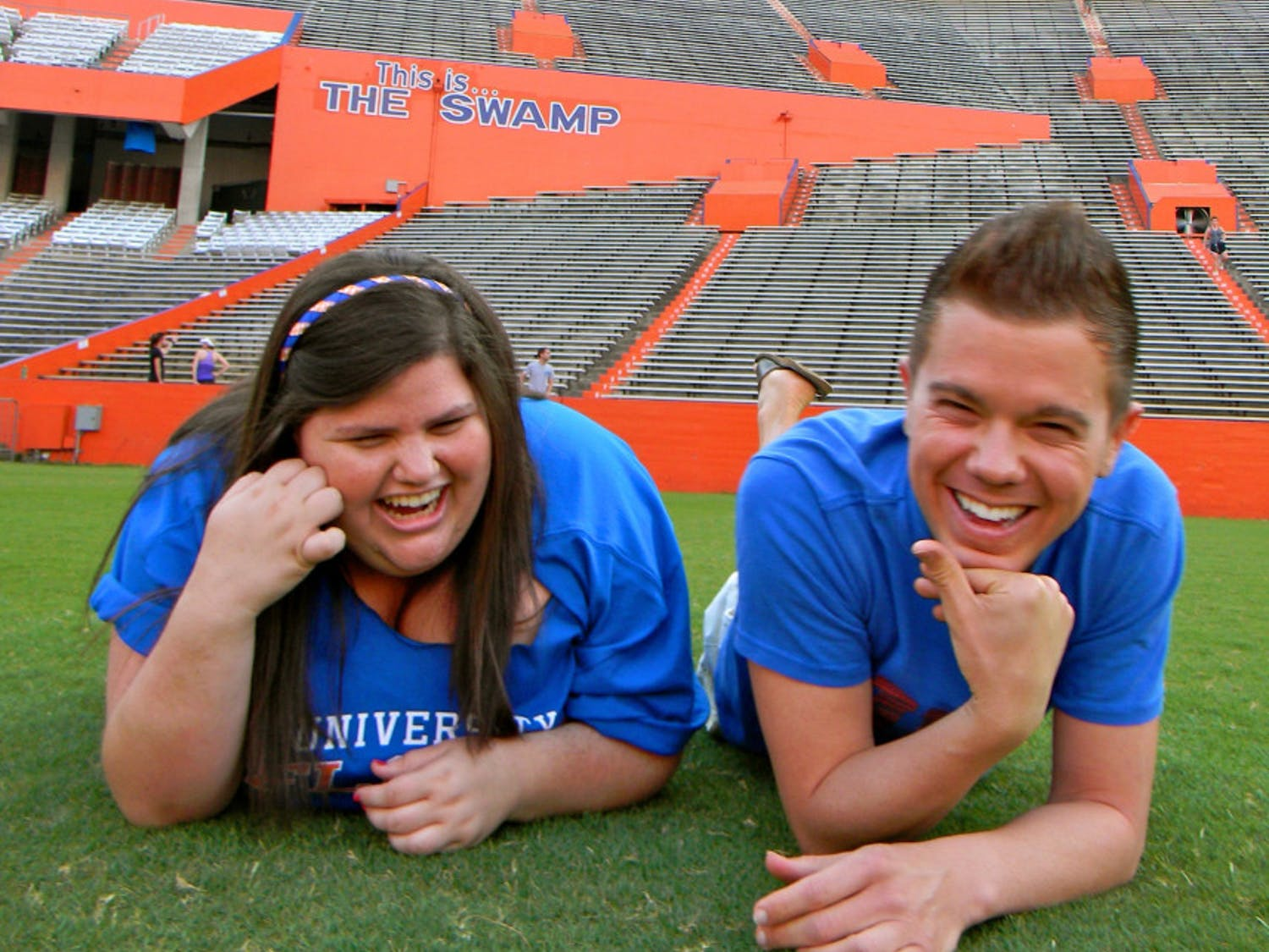 Alison Schwartz and her best friend, Jared Misner, at the University of Florida. Alison was a UF and Alligator alumna.
