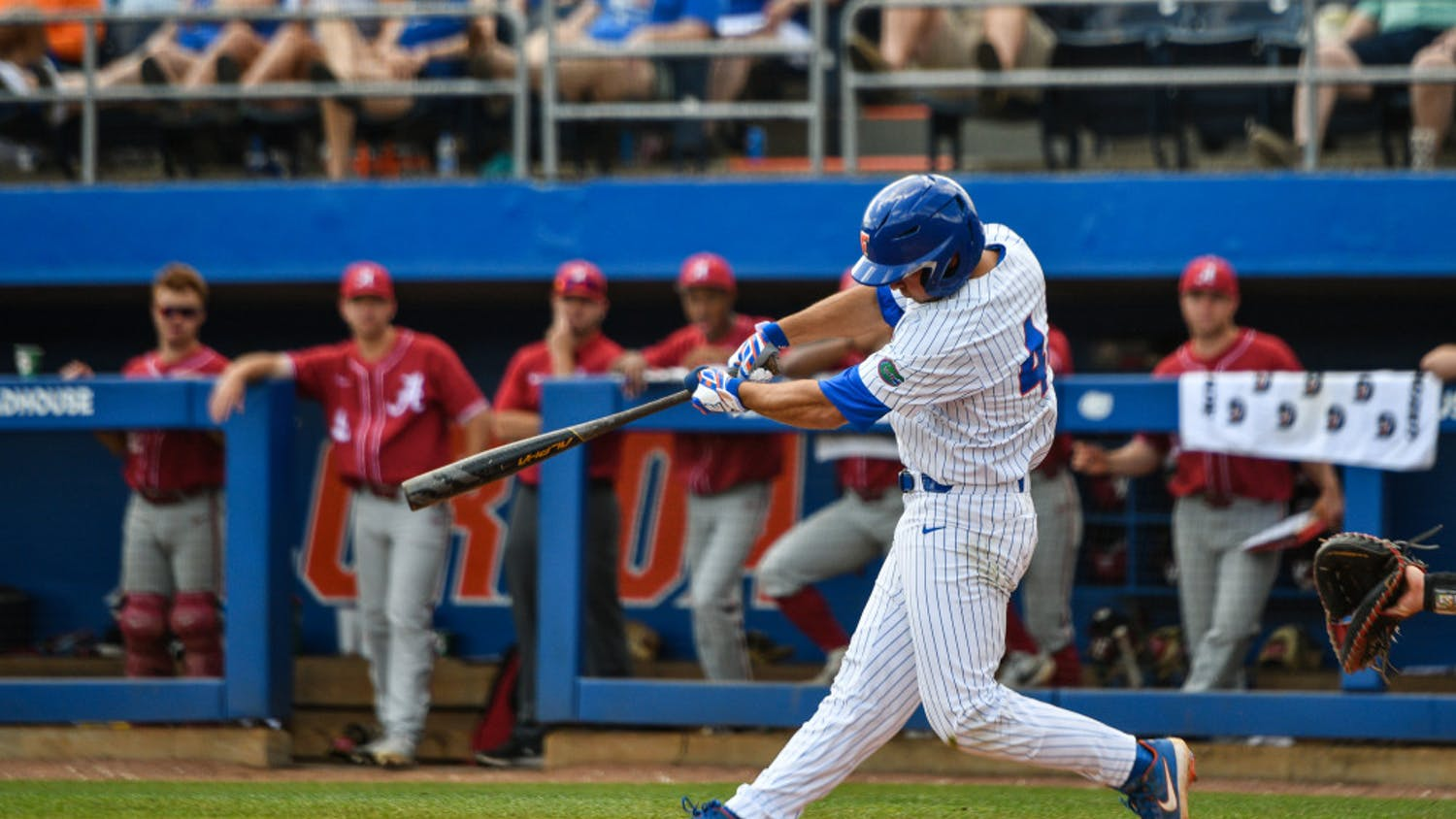 All-American Jud Fabian cranked out two home runs in a winning effort Tuesday