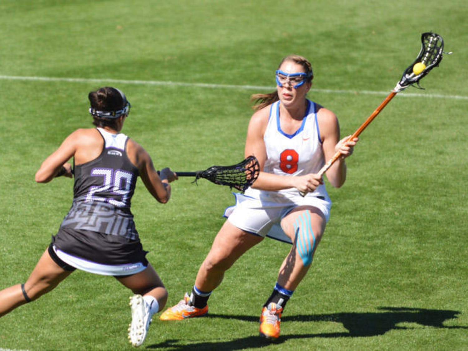 After graduating 12 seniors in 2013, Florida looked to 2014 as a year of rebuilding with 11 new players on the field. However, Florida ended conference play undefeated despite the lack of experience. The Gators won their fourth straight American Lacrosse Conference regular-season title, second conference tournament title and made a fourth straight NCAA Quarterfinals appearance. Next season, Florida will still be fighting to be the No. 1 seed, but coach Amanda O'Leary and company will have to do so in their new conference: The Big East.
