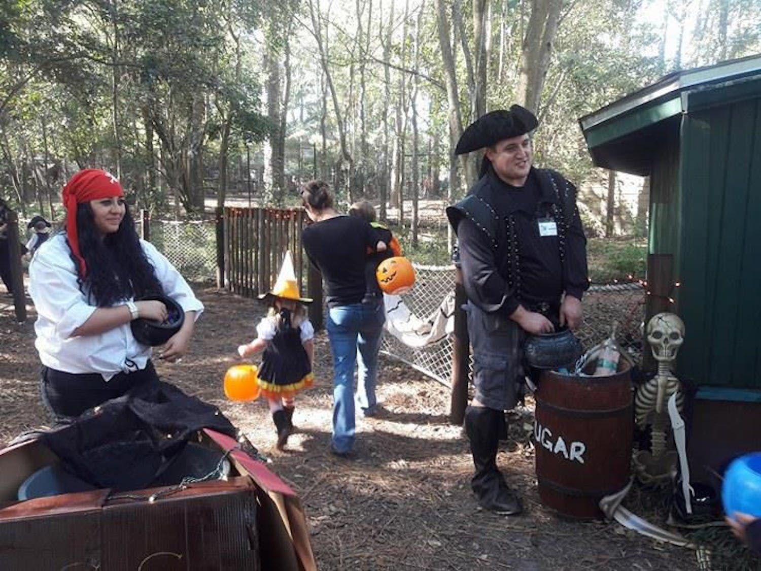 Students of Santa Fe's zoo animal technology program dressed as pirates and passed out candy during Boo at the Zoo.