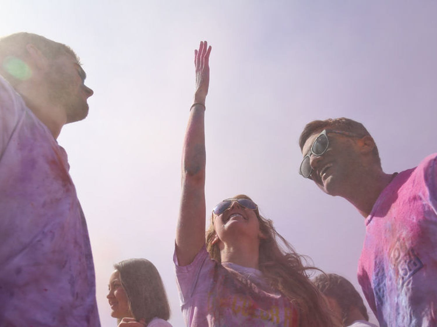 Underneath a crisp blue sky, hundreds of students and members of the Gainesville community gathered on Hume Field to fling brightly colored powder at each other for Holi, an Indian holiday that celebrates the commencement of spring. The event was hosted by UF's Indian Student Association and Student Government.