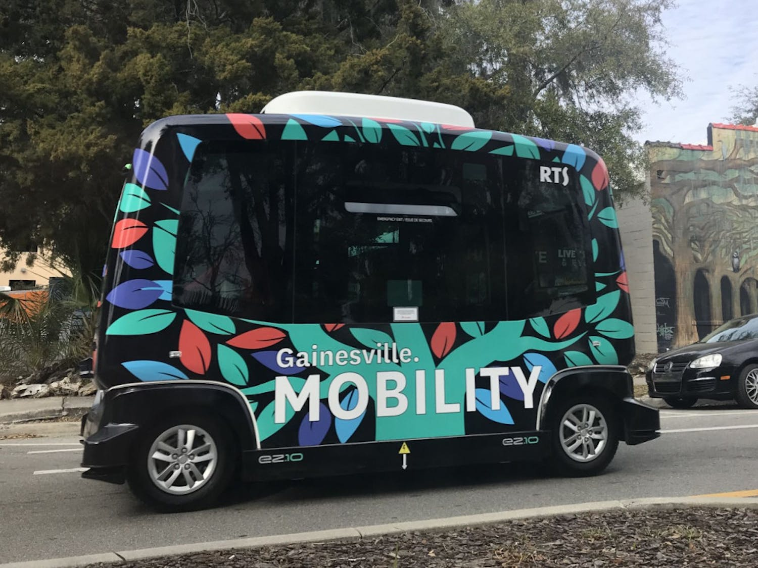 The autonomous shuttle is in a testing phase until June.