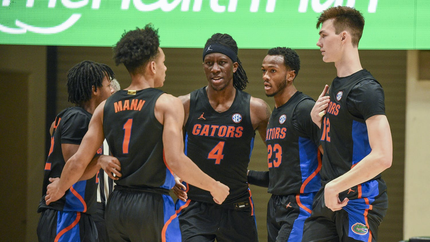 Coming into a blockbuster matchup against the Mountaineers Saturday evening, UF looked much improved guarding the interior. Photo courtesy of the SEC Media Portal.