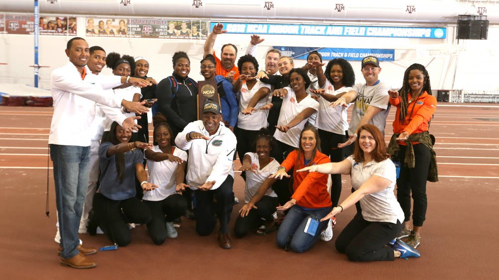 <p>The UF men's and women's track and field teams both took first and fourth, respectively, at the NCAA Indoor Championships in Fayetteville, Arkansas.</p>