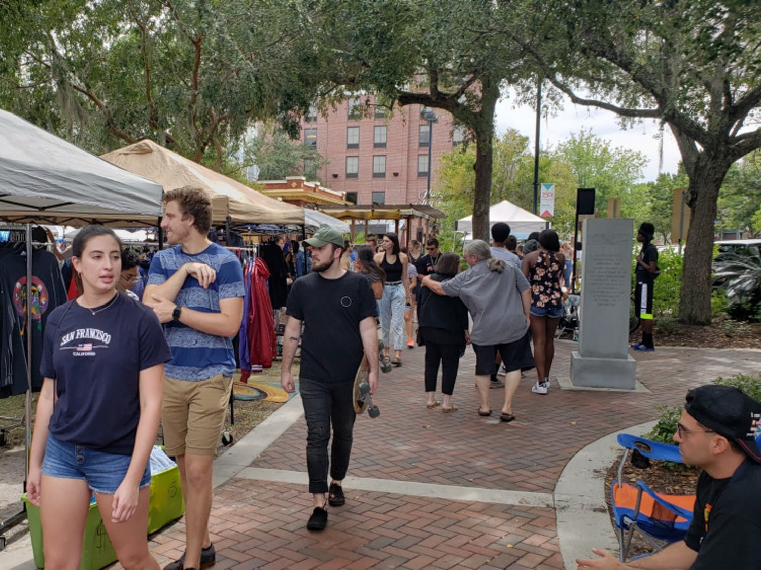 The Gainesville community visits the Florida Vintage Market at Bo Diddley Plaza on Oct. 6.