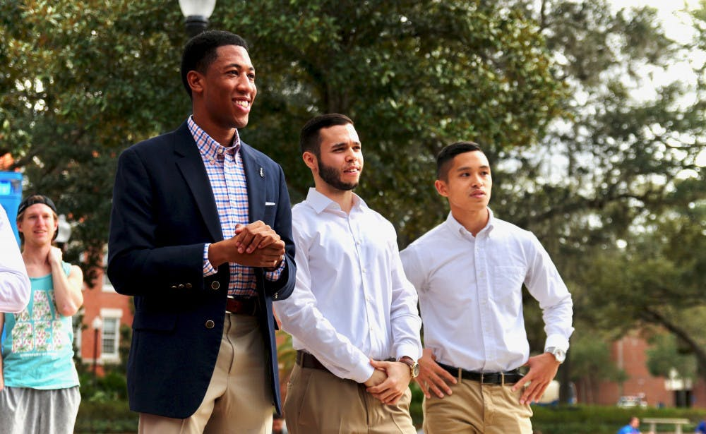 <p><span>Impact Party announced their executive ticket at Plaza of the Americas Friday afternoon. Ian Green will be running for Student Body President, alongside David Enriquez as Vice President and Stefan Sanguyo as Treasurer.</span></p>