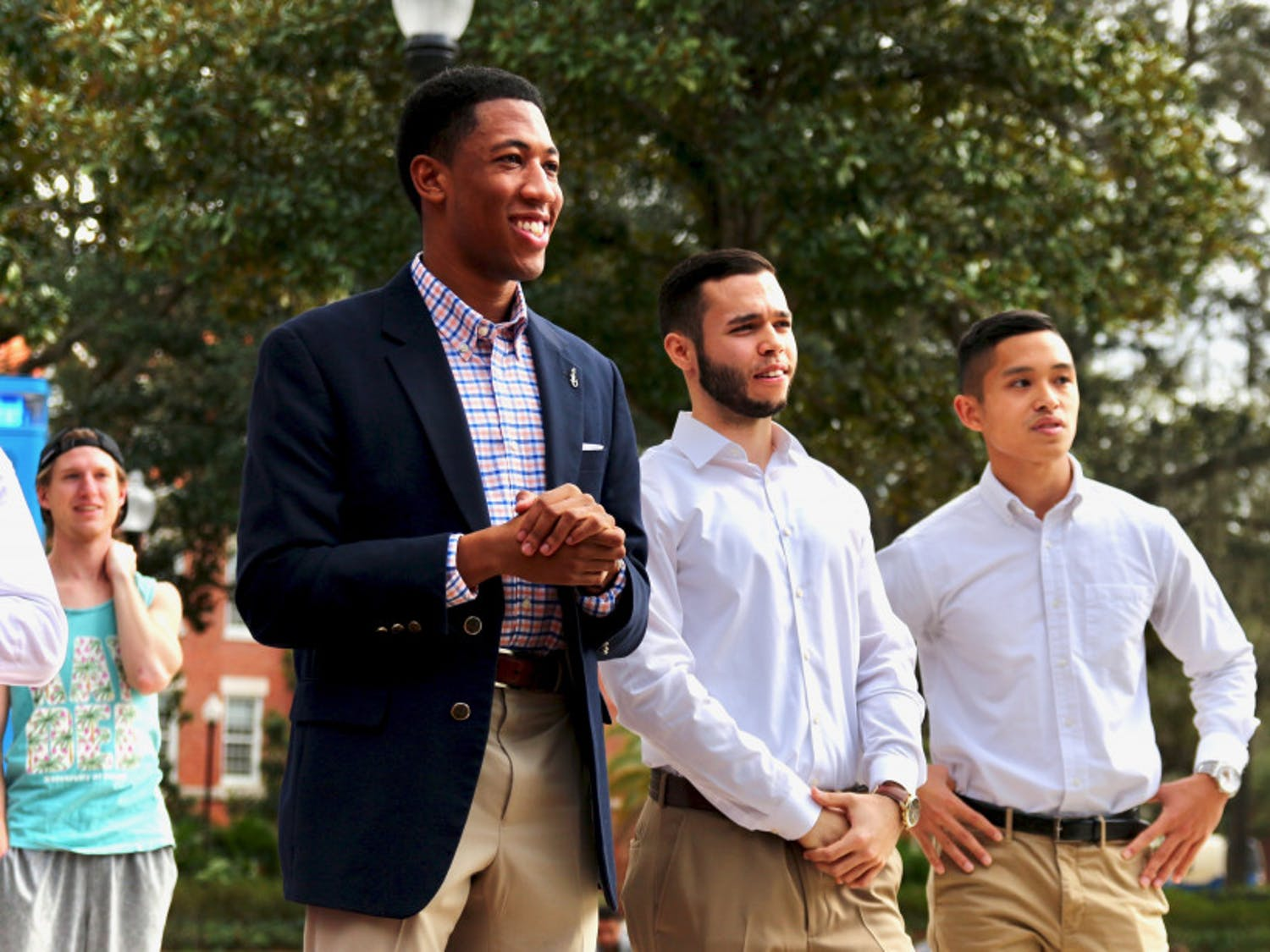 Impact Party announced their executive ticket at Plaza of the Americas Friday afternoon. Ian Green will be running for Student Body President, alongside David Enriquez as Vice President and Stefan Sanguyo as Treasurer.