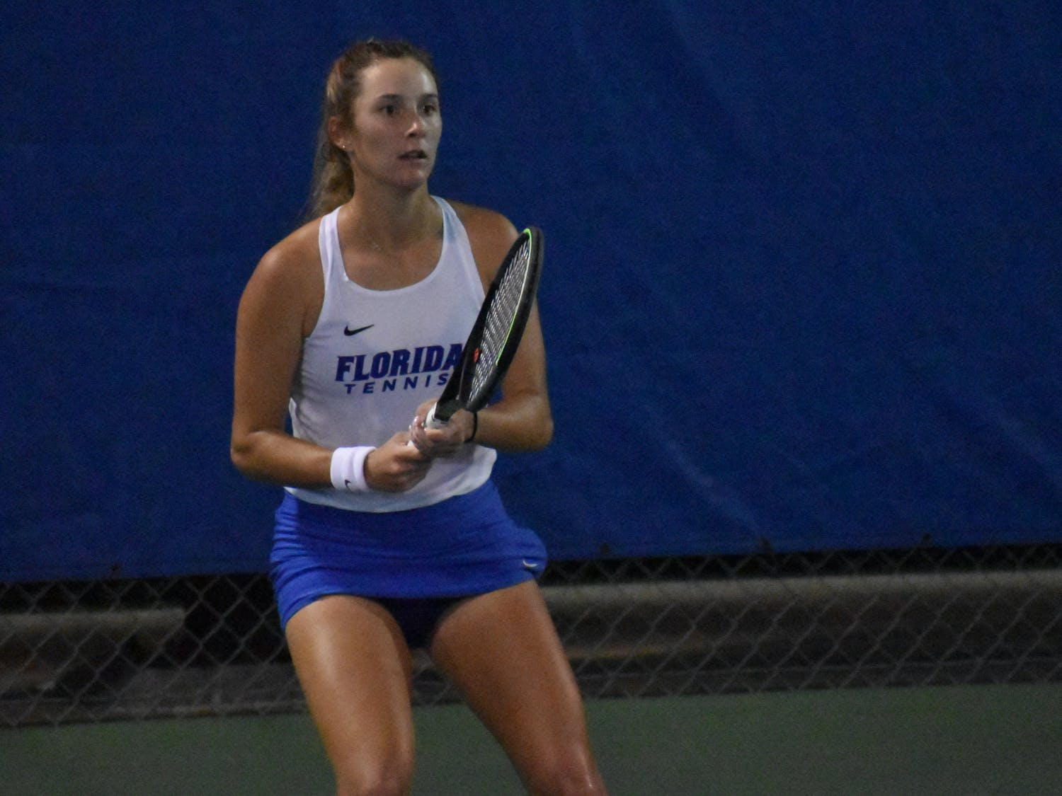 No. 26 Kessler and Marlee Zein finally earned their first doubles win this season against UCF Tuesday night.