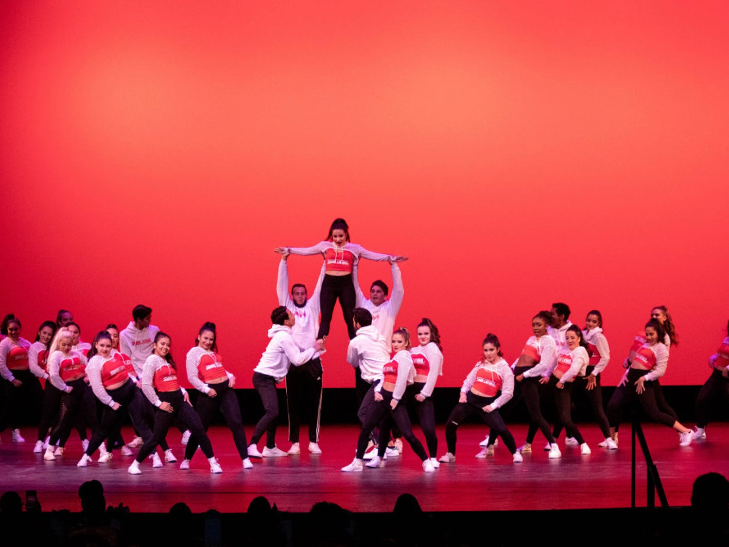 Sabor Latino, a Latino dance club at UF, starts their routine at the 2019 Soulfest, which is hosted as a part of Gator Growl in an effort to showcase and celebrate the diversity and talent among the students at UF.