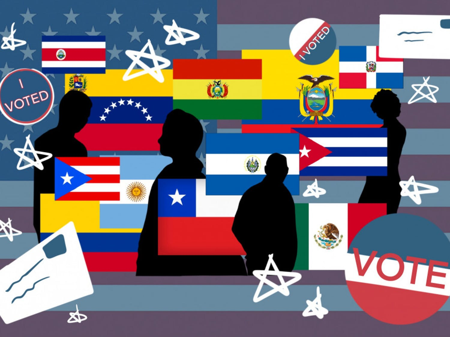 Graphic of Latin and Hispanic country flags
