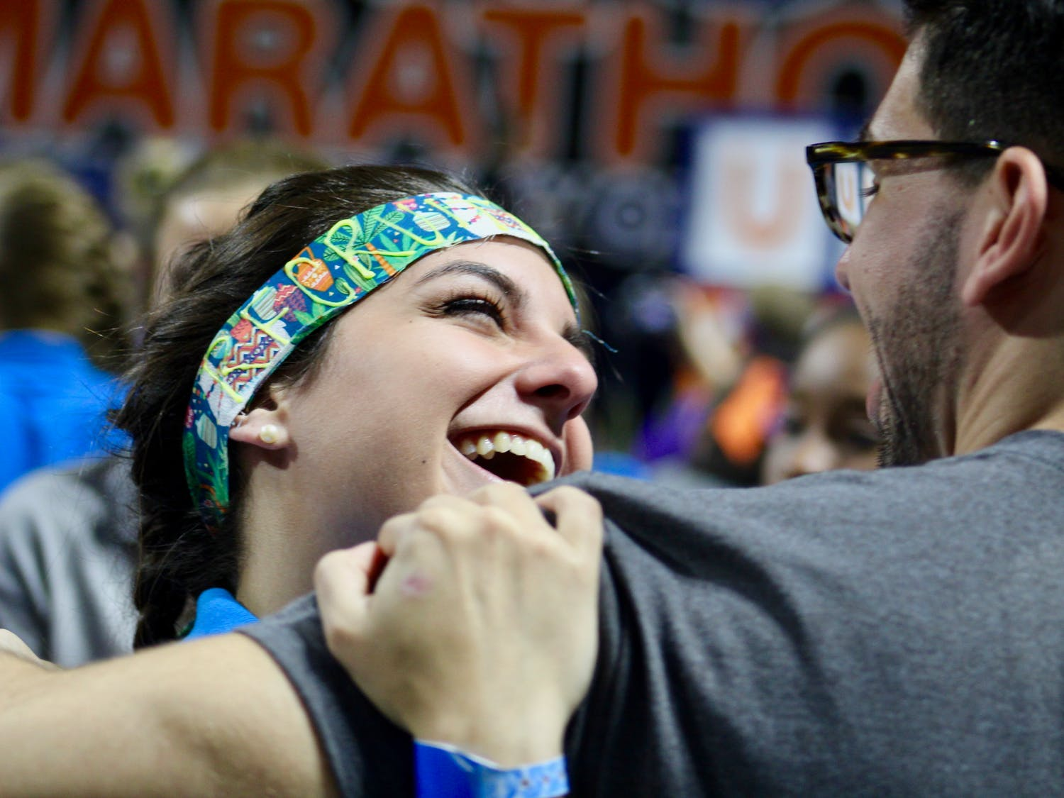 After 26.2 hours of dancing at the O'Connell Center, UF Dance Marathon organizers held up white signs to reveal the organization had raised $3,026,420.19 for the Children's Miracle Network. Last year, $2.7 million were raised, said Ashleigh Braun, a captain on the Dance Marathon public relations team.